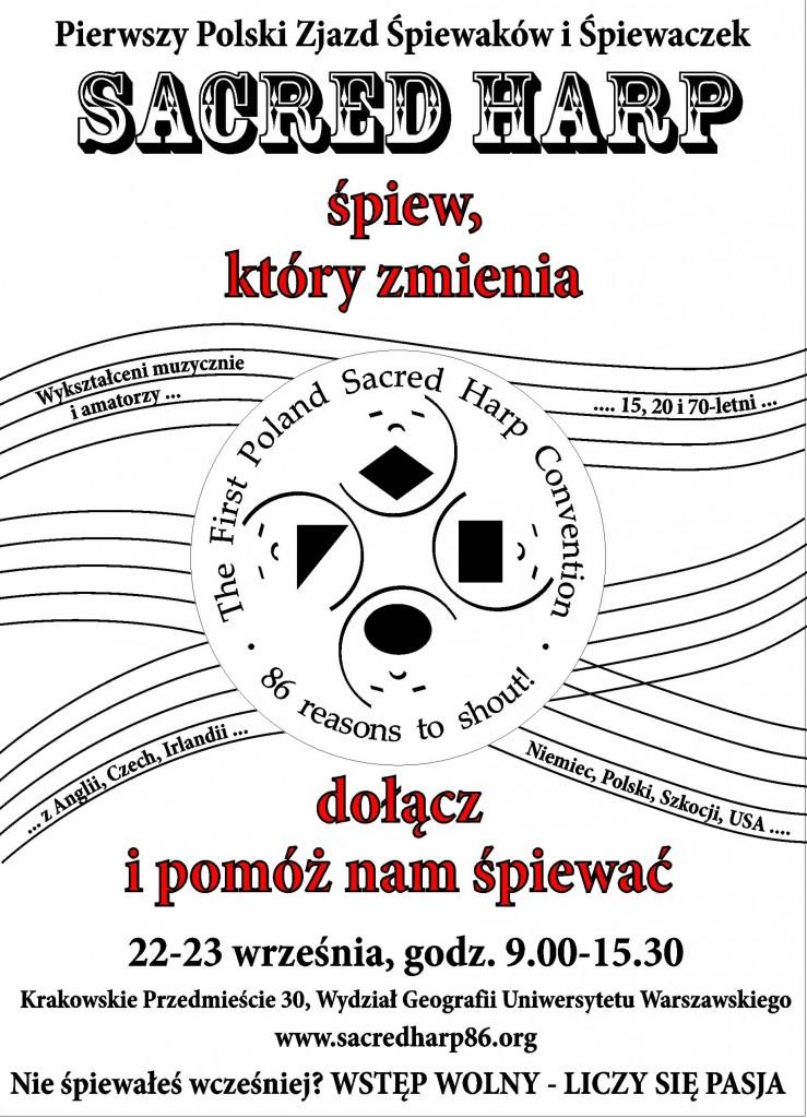 Polski Zjazd Śpiewaków Sacred Harp - plakat